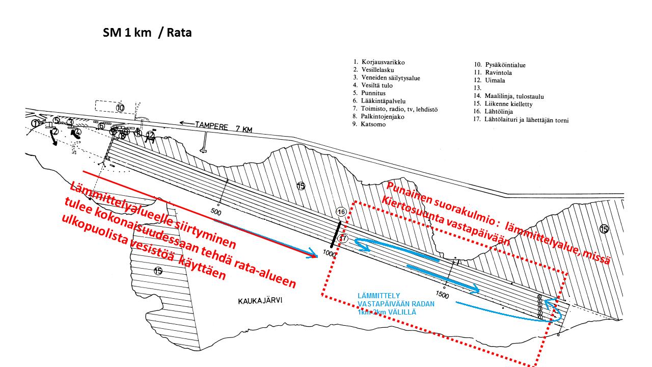 Pienpuuveneiden SM-sprintti reittikartta – Takon Soutajat ry
