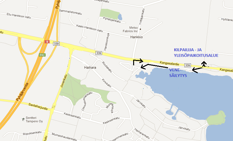 Pienpuuveneiden SM-sprintti saapumiskartta – Takon Soutajat ry